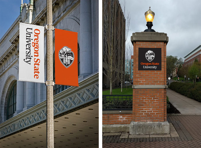 Oregon State's institutional identity will be as visible around campus as the athletic logo designed by Nike in 2013.