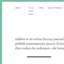 <cite>Wildness</cite> website (2017)