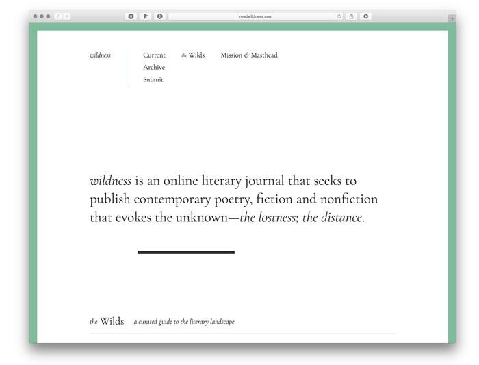 Wildness website (2017) 1