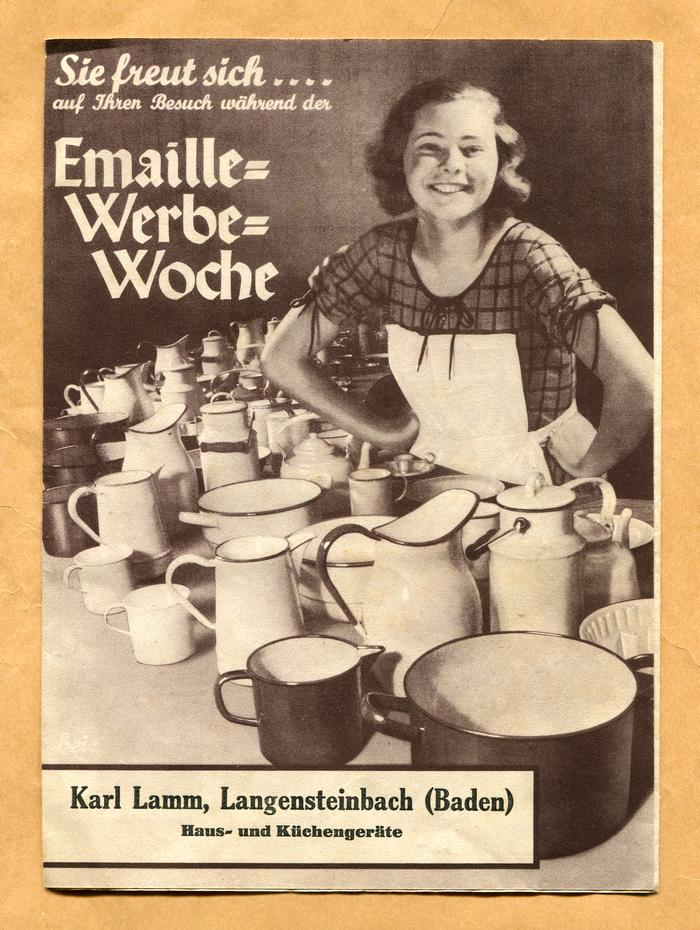 """Emaille-Werbe-Woche"" leaflet 1"
