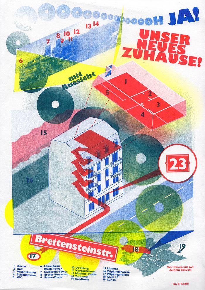 """""""Unser neues Zuhause!"""" change of address"""