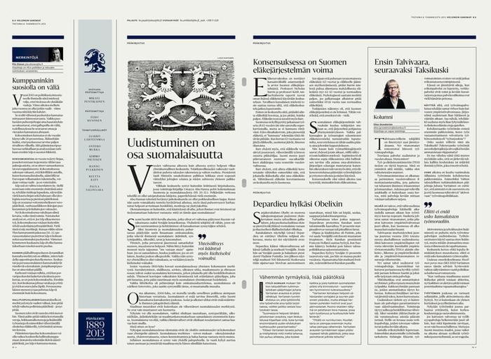 Helsingin Sanomat redesign (2013) 2