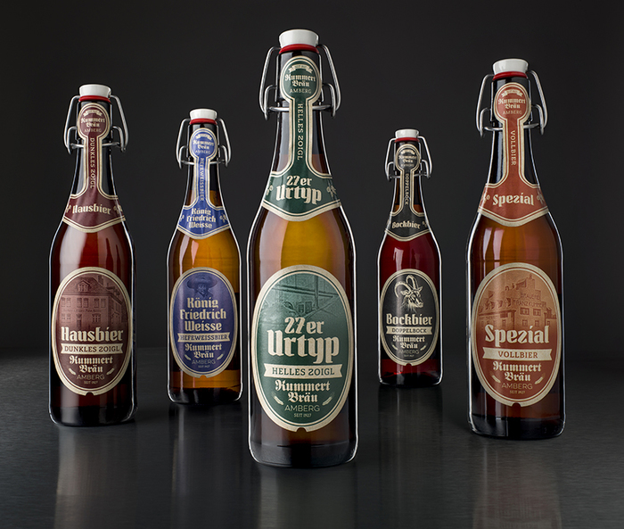 New beer labels for Brauerei Kummert, Amberg 1