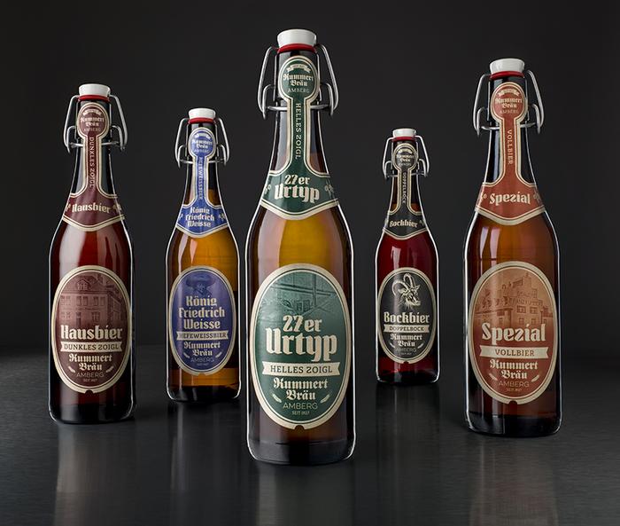 New beer labels for Brauerei Kummert, Amberg 1