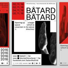 Bâtard 2016 festival identity