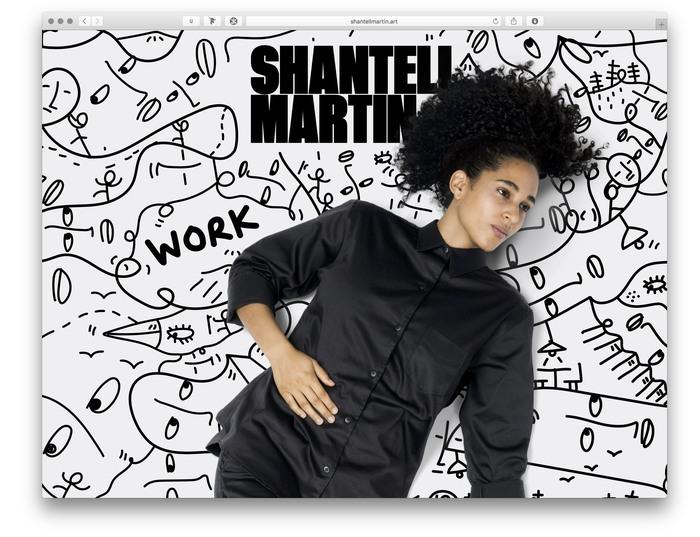 Shantell Martin portfolio website 1