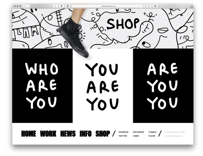 Shantell Martin portfolio website 2