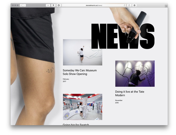 Shantell Martin portfolio website 5