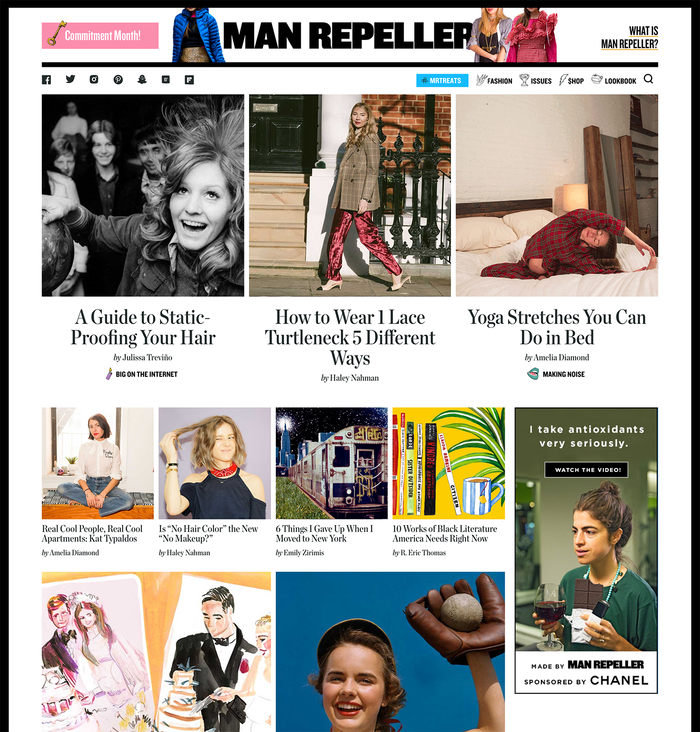 Man Repeller home