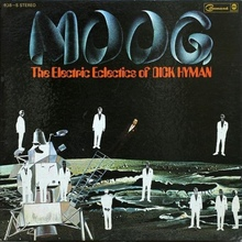 <cite>MOOG — The Electric Eclectics of Dick Hyman </cite>album art