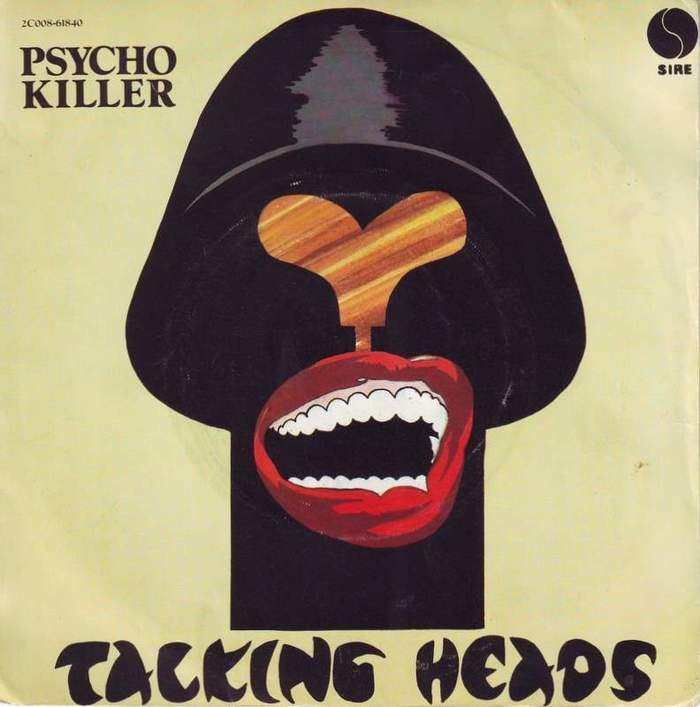 """Talking Heads – """"Psycho Killer"""" French single cover"""