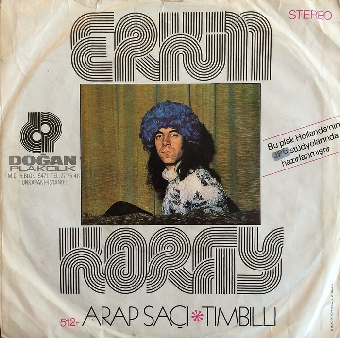 "Erkin Koray – ""Arap Saçı"" / ""Tımbıllı"" single cover 1"