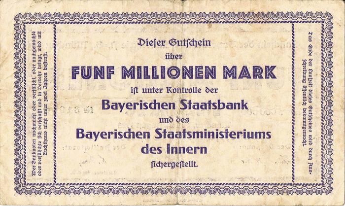 Bayerische Bauindustrie A.-G. Notgeld coupons 6