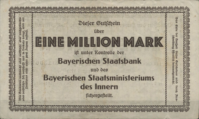 Bayerische Bauindustrie A.-G. Notgeld coupons 4