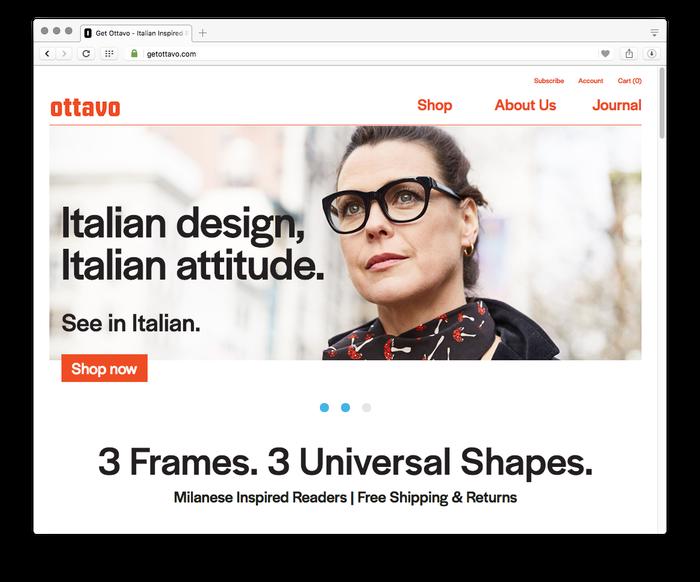 The Ottavo website uses Halyard Display in Regular and Medium weights.