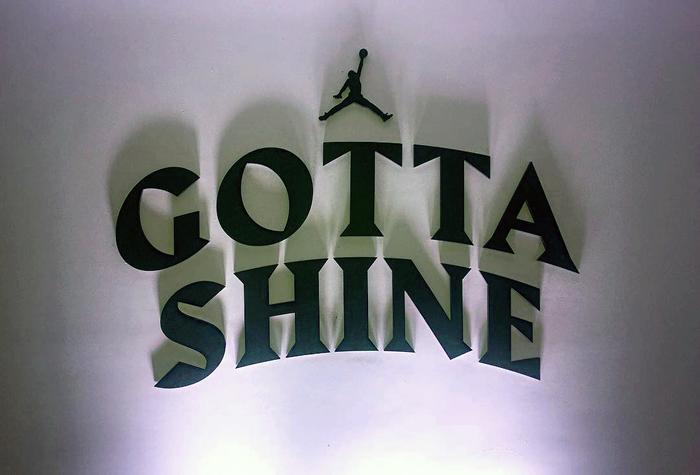 Nike Jordan Gotta Shine event & sticker 1
