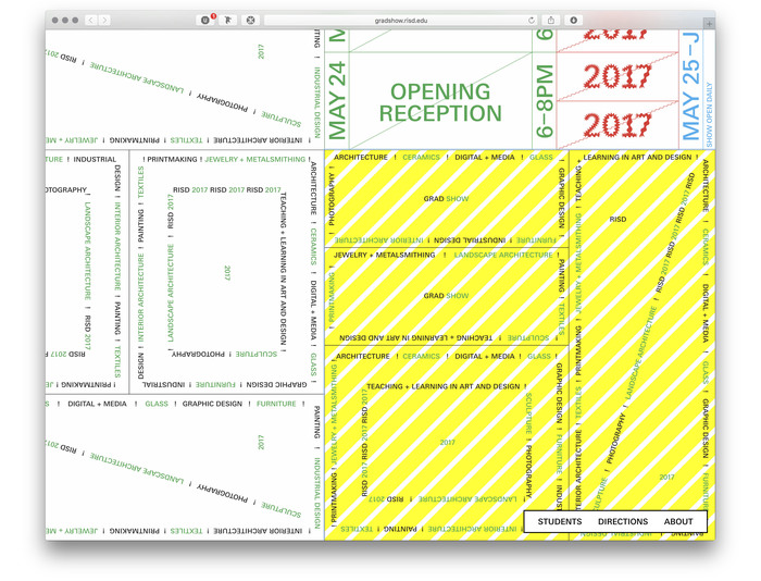 RISD Grad Show 2017 website 2