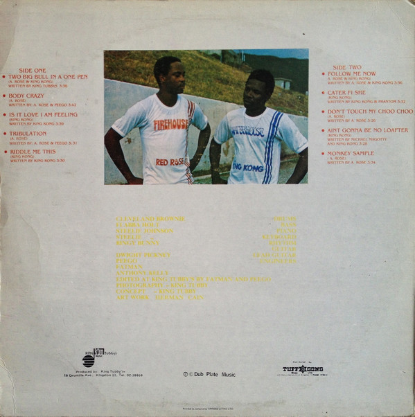 King Tubby's present Red Rose and King Kong — Two Big Bull in a One Pen album art 2