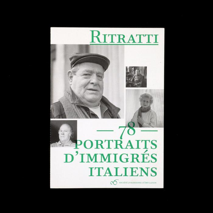 Ritratti. 78 portraits d'immigrés italiens 1