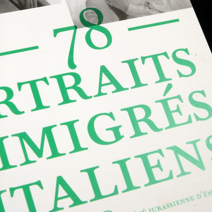 Ritratti. 78 portraits d'immigrés italiens 3