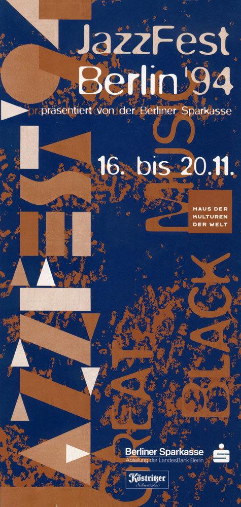 JazzFest Berlin '94 flyer