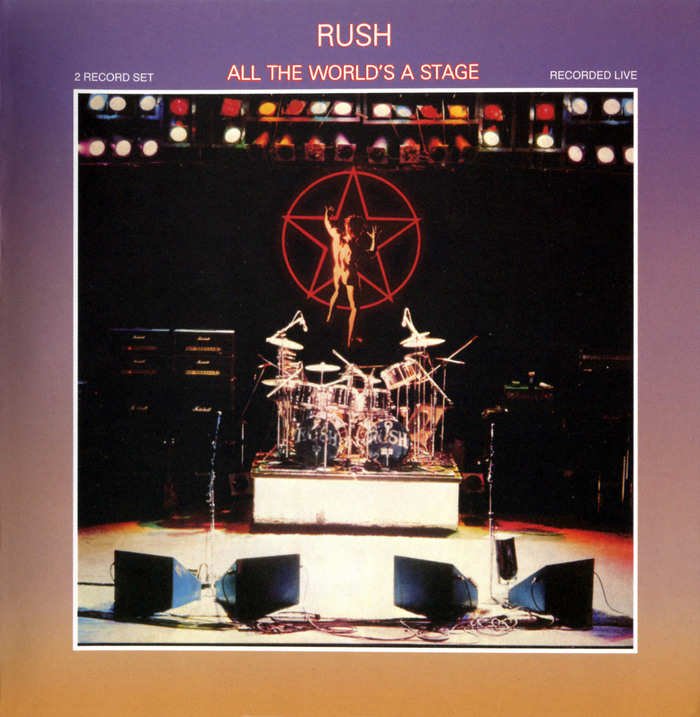 Rush – All The World's A Stage album art