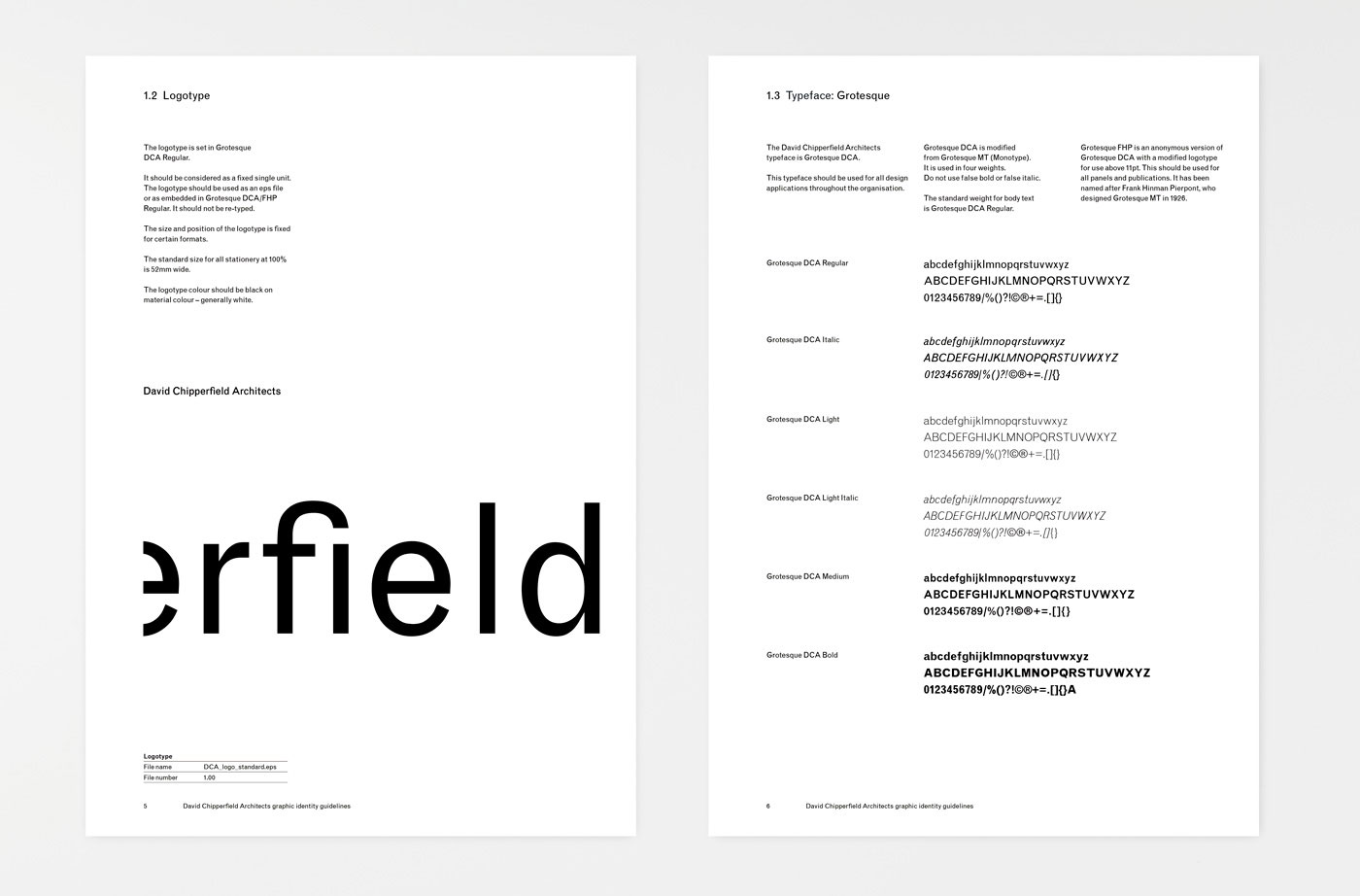 David Chipperfield Architects Identity Fonts In Use