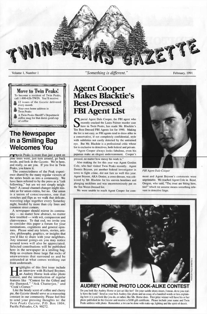 Twin Peaks Gazette memoraphilia 1