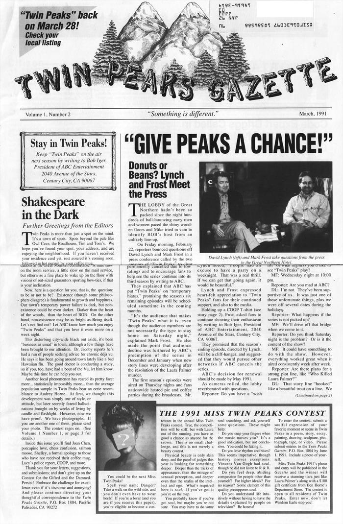 Twin Peaks Gazette memoraphilia 2