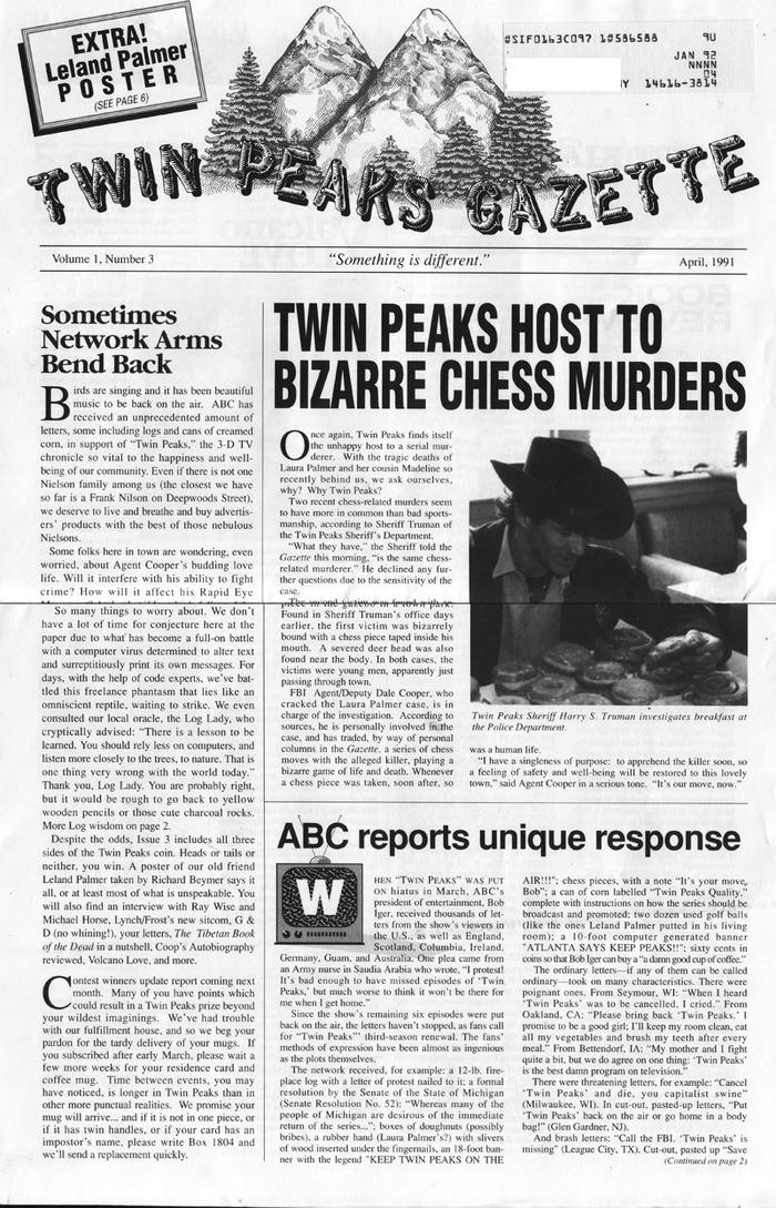 Twin Peaks Gazette memoraphilia 3