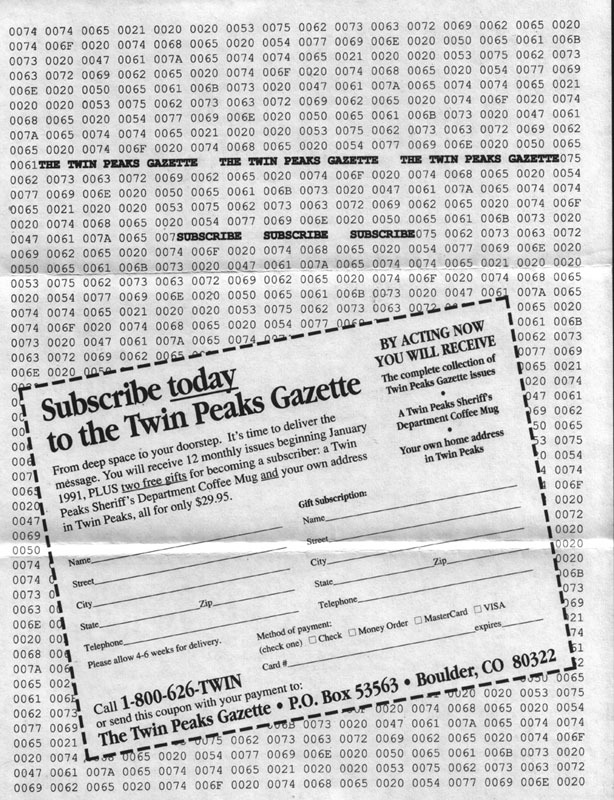 Ad for the initial run of the magazine.