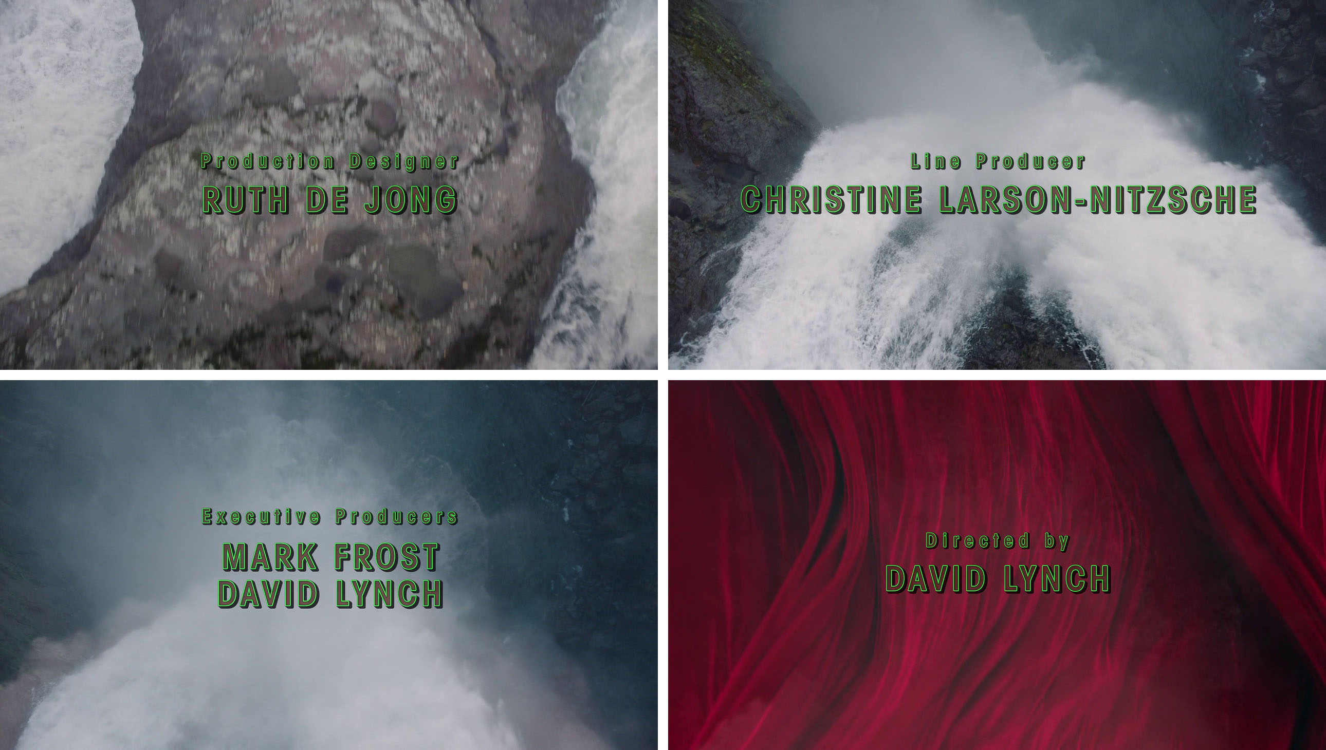 Twin Peaks opening titles - Fonts In Use