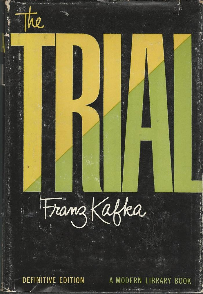Franz Kafka – The Trial, 1956 Modern Library Definitive Edition cover 3