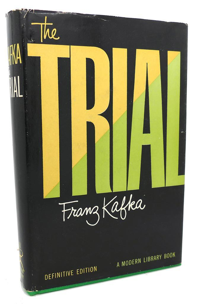 Franz Kafka – The Trial, 1956 Modern Library Definitive Edition cover 1