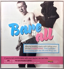 """Bare it all"" NYC public service posters"