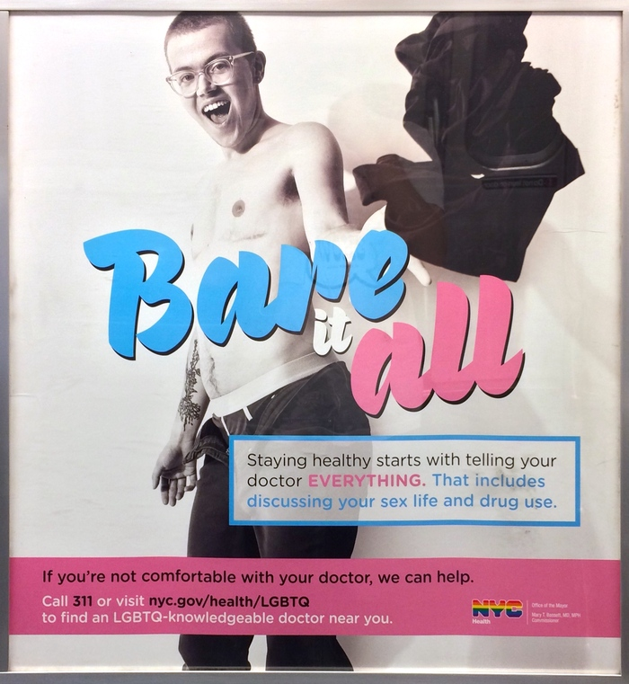 """Bare it all"" NYC public service posters 1"