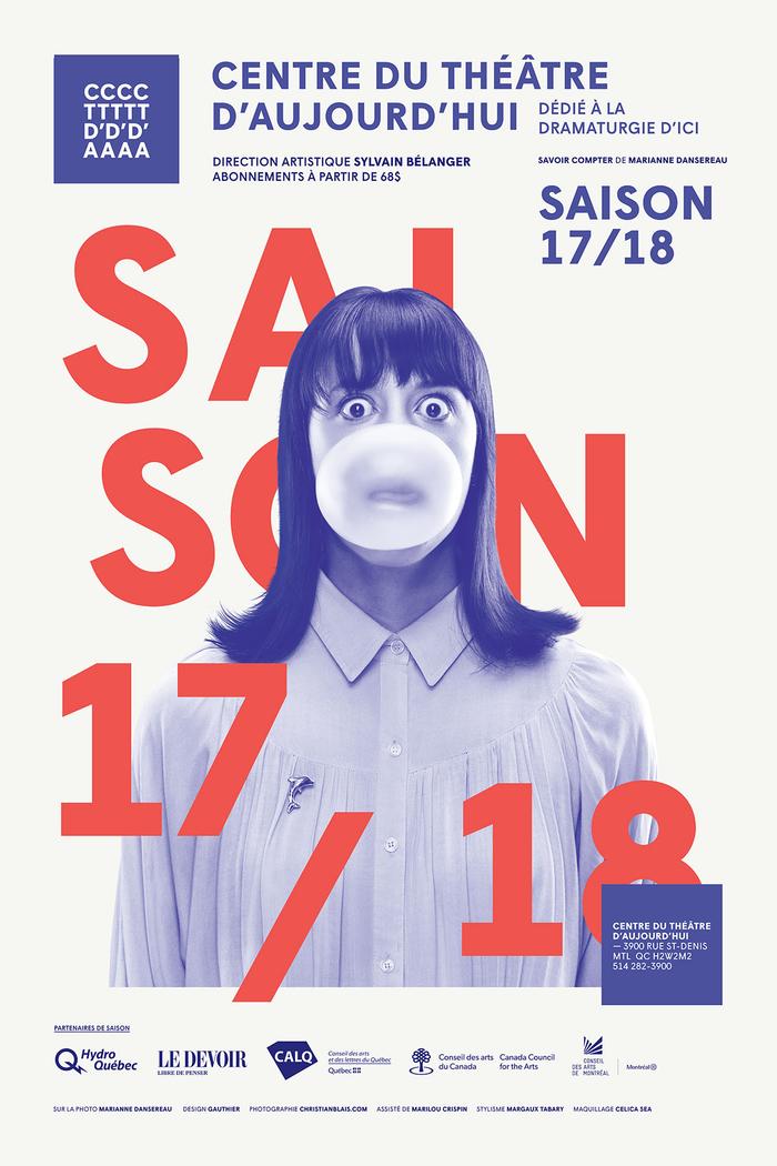 Centre du Théâtre d'Aujourd'hui 2017/18 season 3