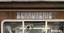 """Serrurerie"" – shop sign in Paris"