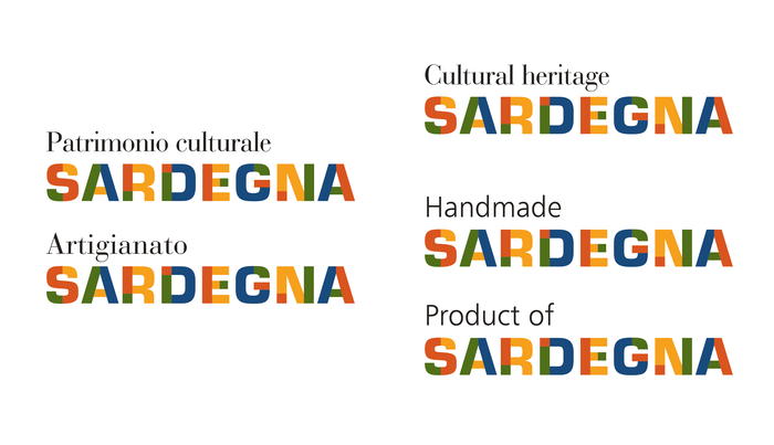 The secondary faces used for the logo declinations are Bauer Bodoni and Frutiger Light.