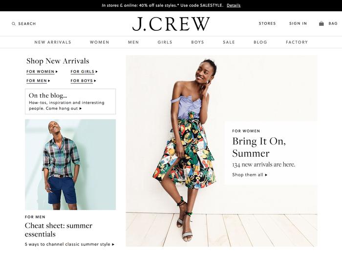 J.Crew website (2017) 1