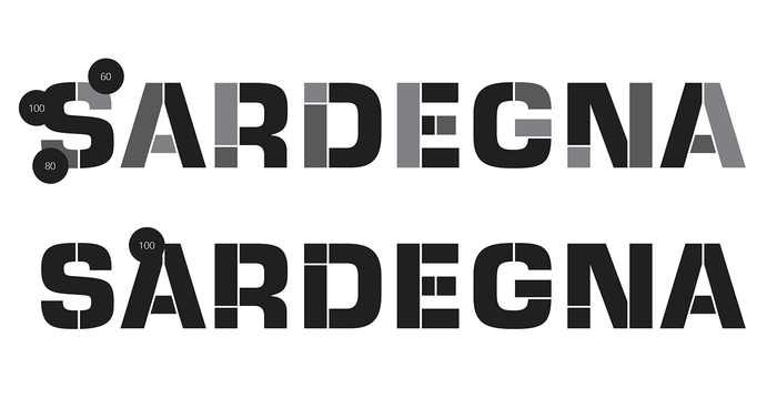 Detail from the identity manual (2007) showing greyscale and monochrome logo versions