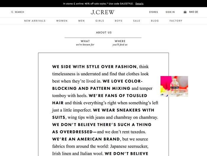 This page breaks from the rest of the site, using PT Futura and Times New Roman.