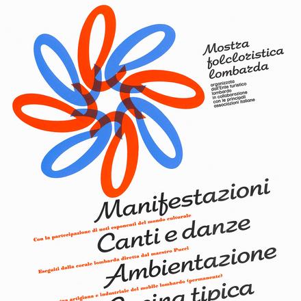 """""""Mostra folcloristica lombarda"""" poster"""