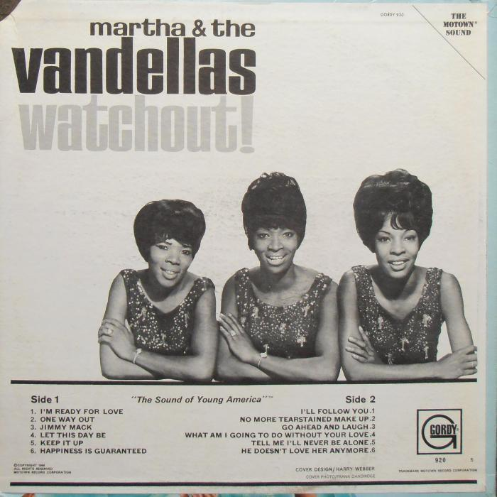 Martha & The Vandellas – Watchout! 3