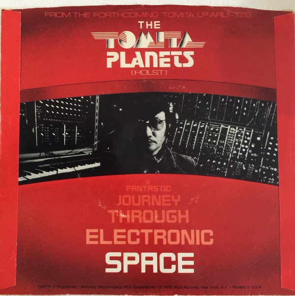 Single/promo: The Tomita Planets: I. Excerpt From Mars / II. Excerpt From Venus (back)