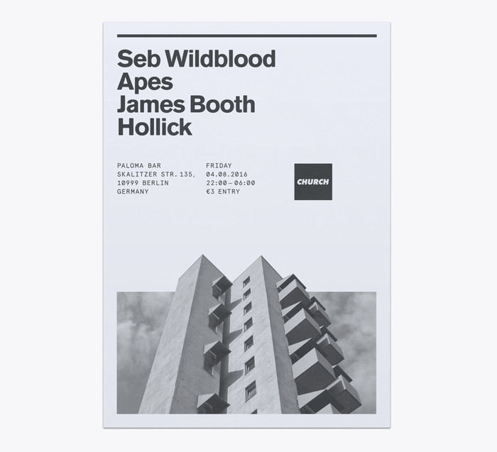 Church: techno label posters 10