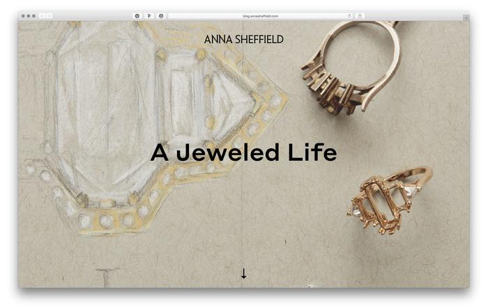 Anna Sheffield website and blog 1