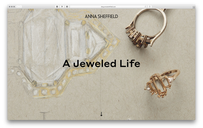 Anna Sheffield website and blog 1