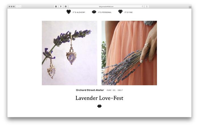 Anna Sheffield website and blog 2