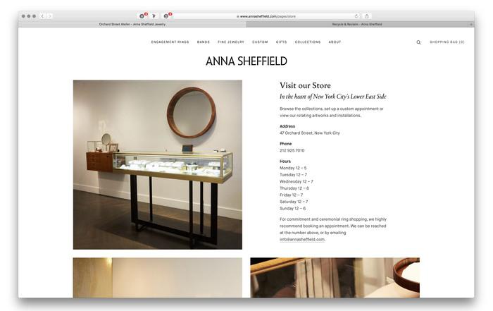Anna Sheffield website and blog 6